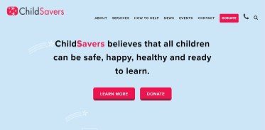 home page for ChildSavers